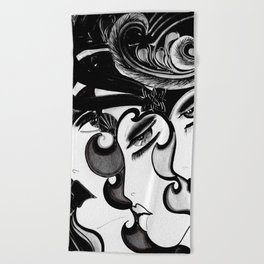 Flappers Beach Towels   Society6