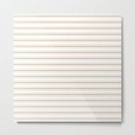 Almond Baby Camel Mattress Ticking Wide Striped Pattern - Fall Fashion 2018 Metal Print