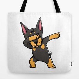 Funny Dabbing Doberman Pinscher Dog Dab Dance Tote Bag