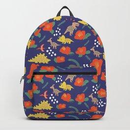 Dinosaurs in camellia garden Backpack