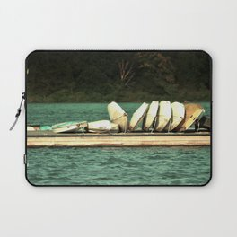 Boats on the Dock Laptop Sleeve