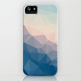 BE WITH ME - TRIANGLES ABSTRACT #PINK #BLUE #1 iPhone Case