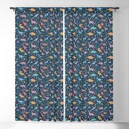 Dinosaur + Flowers Pattern Blackout Curtain