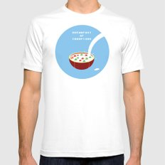 Breakfast of Champions White MEDIUM Mens Fitted Tee