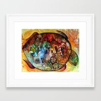 turtle Framed Art Prints featuring  Turtle by oxana zaika