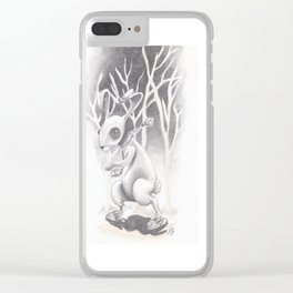 Renegade Rabbit Clear iPhone Case