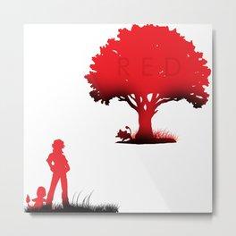 Red Version Metal Print