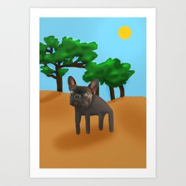 Lonely Bulldog Art Print