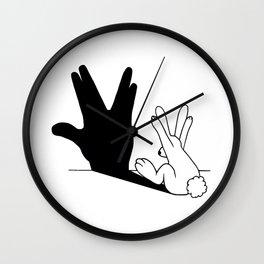 Rabbit Trek Hand Shadow Wall Clock