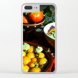 Yellow and red tomatoes II Clear iPhone Case