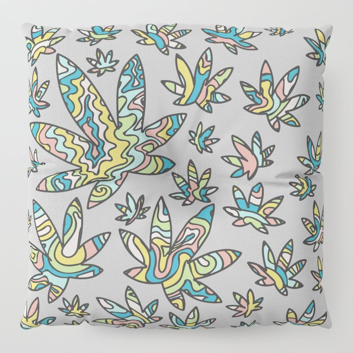 Pastel Cannabis Swirl Floor Pillow