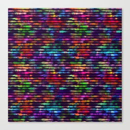 Rainbow watercolor brush stripes Canvas Print