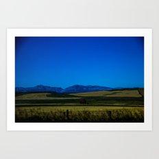 Where the plains meet the Rockies  Art Print