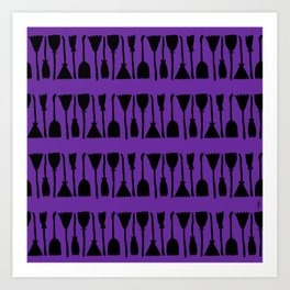 Witches Brooms (purple) Art Print