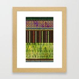 pied de poule Framed Art Print