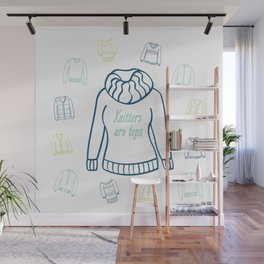 Knitters Are Tops - Nautical Wall Mural
