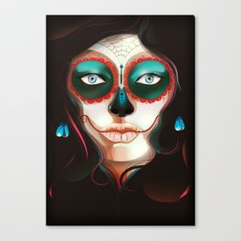 Painted Face Canvas Print