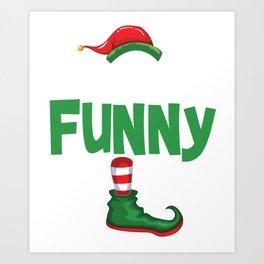 elf funny Art Print