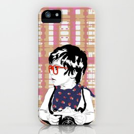 Red Glasses iPhone Case