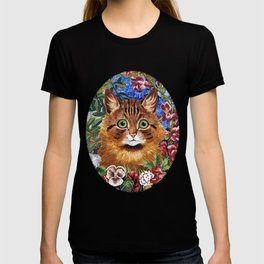 Louis Wain's Cats - Cat In the Garden T-shirt