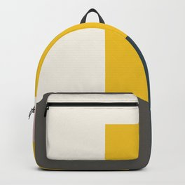 Modern Vintage Minimal Inspired Geometric Colorfield Art Print Backpack