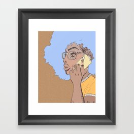 you used to call me Framed Art Print