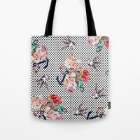 50s Tote Bags featuring 50s by Mickaela Correia