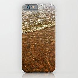 Gentle Ocean Waves On Sandy Beach iPhone Case