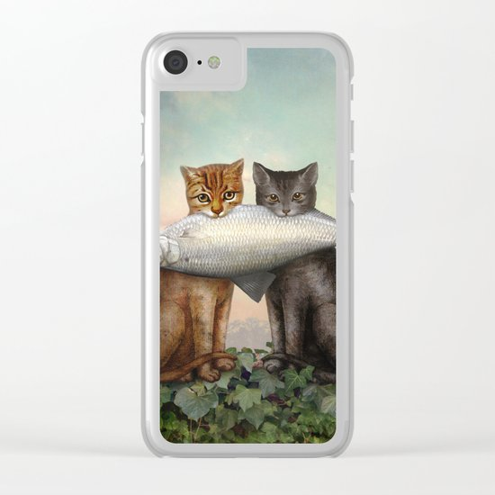 Enjoy Your Dinner Clear iPhone Case