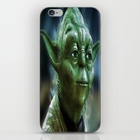 yoda iPhone & iPod Skins featuring Yoda by Robin Curtiss