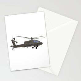 AH-64 Apache Helicopter Stationery Cards
