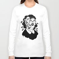 agnes Long Sleeve T-shirts featuring Europa, Agnes and Phyllis by Anna Lisa Illustration