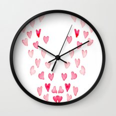 All My Love - Hearts Wall Clock