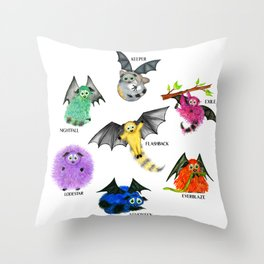 Seven Books, Seven Iggys Throw Pillow