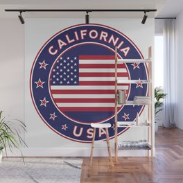 California, USA, car sticker, fridge sticker, travel sticker Wall Mural