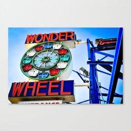 wonder wheel, coney island, 2010 Canvas Print