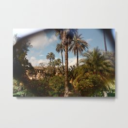 TROPICAL SUNGLASS Metal Print