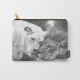 Lion in Love Valentine's Day Carry-All Pouch