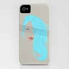 Emo Girl-Grey Slim Case iPhone (4, 4s)