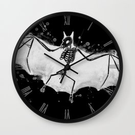Skeletal Bat - inverted Wall Clock