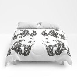 Geometric panda Comforters