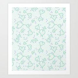 Whimsical Hearts Art Print