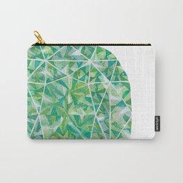 Green Cushion Gem Carry-All Pouch