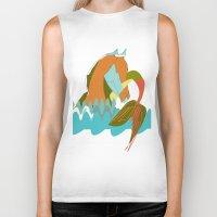 sea horse Biker Tanks featuring Sea Horse by Federica Fernanda