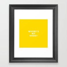 The Royal Tenenbaums - Where's my shoe? Framed Art Print