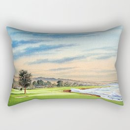 Pebble Beach Golf Course 18th Hole Rectangular Pillow
