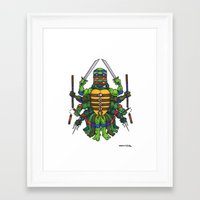 tmnt Framed Art Prints featuring TMNT by Artifact Supply