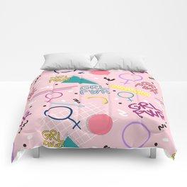 GRL PWR #society6 #pattern #grlpwr Comforters