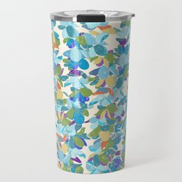 Flower Lei Blue Rows Travel Mug