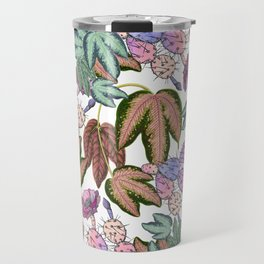 Country pink lavender forest green leaves cactus floral Travel Mug